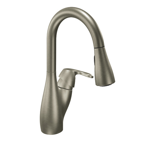 DirtCheapFaucets.com   Moen 7599SL Medora Single Handle Pullout Kitchen  Faucet   Stainless