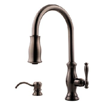 Dirtfaucets Price Pfister T529 Tmz Hanover Pull Down Kitchen Faucet W Soap Dispenser Oil Rubbed Bronze