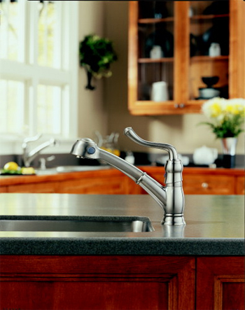 saxony single handle pullout kitchen faucet Borken