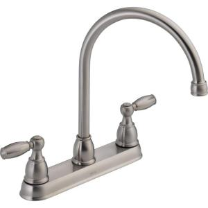Amazing Delta 21987LF SS Foundations 2 Handle Kitchen Faucet   Stainless Steel