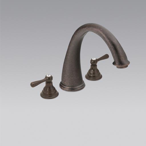 Dirtcheapfaucets Com Moen T920orb Kingsley Roman Tub Trim Kit Oil Rubbed Bronze